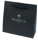 luxury paper bags with PP rope handles and eyelets