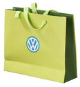 paper promotional bags with ribbon handles