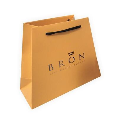 bespoke printed luxury trapezoid paper bags