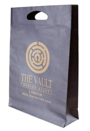 kraft carrier bags with logo