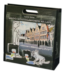 die cut handle euro tote bags