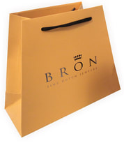 trapezoid luxury paper bags with mebossing logo