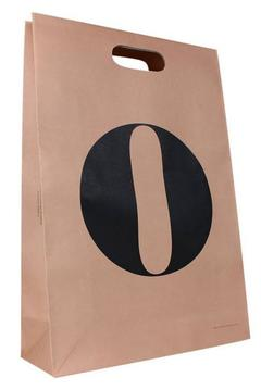 die cut handle kraft bags with printed logo