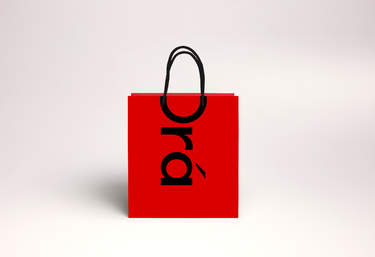 Rope Handle Laminated Paper Bags With Printed Logo
