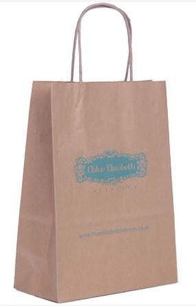 brown paper bags with logo